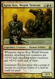 Magic the Gathering Ravnica: City of Guilds Single Agrus Kos, Wojek Veteran Foil - NEAR MINT (NM)