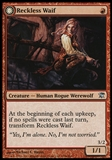Magic the Gathering Innistrad Single Reckless Waif Foil UNPLAYED