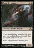 Magic the Gathering Dragon's Maze Single Blood Scrivener  x4 (Playset) - NEAR MINT (NM)