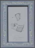 2013 Topps Allen and Ginter #82 Roberto Clemente Mini Framed Black Printing Plate #1/1