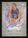 2012/13 Upper Deck SP Authentic Canvas Collection Autographs #CC44 Miles Plumlee E Autograph