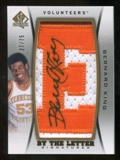 2012/13 Upper Deck SP Authentic By The Letter Signatures #BK Bernard King/Serial 75; Print Run 675 Autograph /