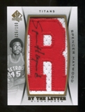 2012/13 Upper Deck SP Authentic By The Letter Signatures #SH Spencer Haywood/Serial 100; Print Run 700 Autogra
