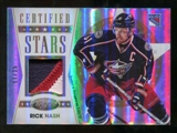 2012/13 Panini Certified Stars Materials Mirror Gold Patch #14 Rick Nash /25