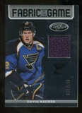 2012/13 Panini Certified Fabric of the Game #98 David Backes /299