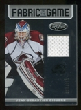2012/13 Panini Certified Fabric of the Game #10 Jean-Sebastien Giguere /299