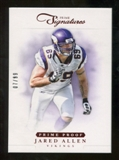 2012 Panini Prime Signatures Prime Proof Red #104 Jared Allen /99
