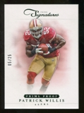 2012 Panini Prime Signatures Prime Proof Green #71 Patrick Willis /25
