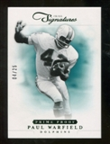 2012 Panini Prime Signatures Prime Proof Green #171 Paul Warfield /25