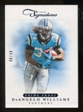 2012 Panini Prime Signatures Prime Proof Blue #35 DeAngelo Williams /49