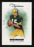2012 Panini Prime Signatures Prime Proof Blue #149 Bart Starr /49