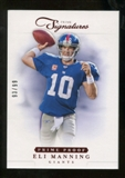 2012 Panini Prime Signatures Prime Proof Red #7 Eli Manning /99