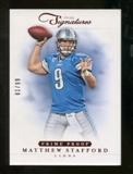 2012 Panini Prime Signatures Prime Proof Red #15 Matthew Stafford /99
