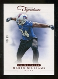 2012 Panini Prime Signatures Prime Proof Red #90 Mario Williams /99