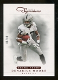 2012 Panini Prime Signatures Prime Proof Red #100 Denarius Moore /99