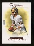 2012 Panini Prime Signatures Prime Proof Red #152 Archie Manning /99