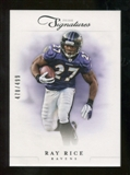 2012 Panini Prime Signatures #82 Ray Rice /499