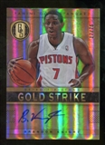 2012/13 Panini Gold Standard Gold Strike Signatures #42 Brandon Knight Autograph /75