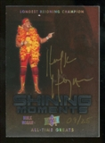 2012 Upper Deck All-Time Greats Shining Moments Autographs #SMHH3 Hulk Hogan/Longest reigning Champion Autogra