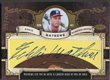 2007 SP Legendary Cuts #EM Eddie Mathews Inside the Numbers Cuts Cut Auto #24/70