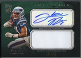 2011 Topps Inception #AJPSR Stevan Ridley Green Rookie Jumbo Patch Auto #25/50
