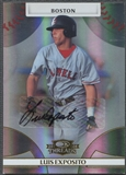 2008 Donruss Threads #58 Luis Exposito Signatures Gold Rookie Auto #740/971