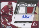2009/10 SP Game Used #ISPM Peter Mueller Inked Sweaters Jersey Auto #21/50