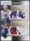 2007/08 Ultimate Collection #UP2MB Mats Sundin & Borje Salming Duos Patch #10/15