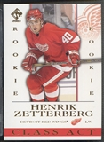 2002/03 Private Stock Reserve #7 Henrik Zetterberg Class Act Rookie