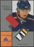 2003/04 ITG Used Signature Series #38 Rick Nash Jersey and Stick