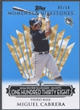 2008 Topps Moments and Milestones #139-138 Miguel Cabrera Blue #05/10