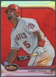 2012 Finest #1 Albert Pujols Red Refractor #09/25