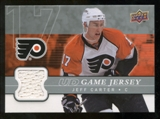 2008/09 Upper Deck Game Jerseys #GJJE Jeff Carter