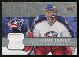 2008/09 Upper Deck Game Jerseys #GJPL Pascal Leclaire