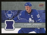 2008/09 Upper Deck Game Jerseys #GJSU Mats Sundin