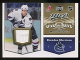 2007/08 Upper Deck One on One Jerseys #OOMH Brendan Morrison/Adam Hall