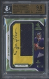 2008 SP Rookie Threads #JF53 Joe Flacco Rookie Lettermen College Patch Auto #09/16 BGS 9.5