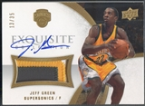 2007/08 Exquisite Collection #EAJG Jeff Green Rookie Patch Auto #13/35