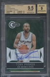 2010/11 Totally Certified #117 Tony Parker Green Auto #1/5 BGS 9.5