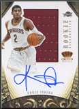 2012/13 Panini Preferred #327 Kyrie Irving Rookie Silhouettes Jersey Auto #27/99