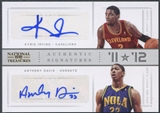 2012/13 Panini National Treasures #1 Kyrie Irving & Anthony Davis 11 vs. 12 Signatures Silver Auto #02/25