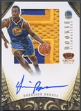 2012/13 Panini Preferred #348 Harrison Barnes Rookie Silhouettes Prime Patch Auto #08/25