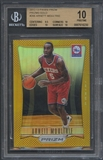 2012/13 Panini Prizm #266 Arnett Moultrie Prizms Gold Rookie #05/10 BGS 10