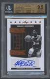 2012 Leaf Legends of Sport #WCMJ1 Magic Johnson We Are the Champions Auto BGS 9.5