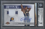 2010/11 Panini Threads #10 Paul George Rookie Collection Materials Signatures Jersey Auto #15/50 BGS 9