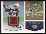 2007/08 Upper Deck One on One Jerseys #OOFL Peter Forsberg/Nicklas Lidstrom