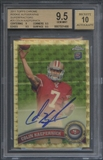 2011 Topps Chrome #25 Colin Kaepernick Superfractor Rookie Auto #1/1 BGS 9.5