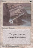 Magic the Gathering Alpha Single Lance UNPLAYED (NM/MT)