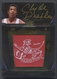 2011/12 Exquisite Collection UD Black #LCD Clyde Drexler College Logo Auto #09/40