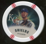 2013 Topps Chipz Gold #JSH James Shields